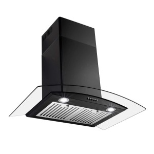 Perfetto Kitchen and Bath 30 in. Convertible Wall Mount Range Hood - Best Range Hoods for Gas Stoves: Aesthetically pleasing