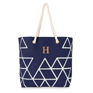 The Knot Personalized Extra-Large Geo - Best Tote Bags for Teachers: Will Meet All Your Needs