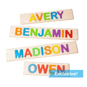 Fat Brain Toys Personalized Name Puzzle - Best Wooden Puzzles for Toddlers: Vibrant Colors with Large Pieces
