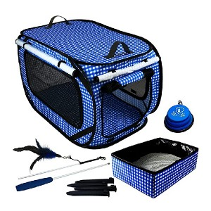 Pet Fit For Life Large Collapsible Cat Cage - Best Pet Carriers for Cats: Comes with matching accessories