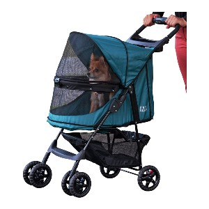 Pet Gear No-Zip Happy Trails Pet Stroller - Best Dog Strollers for Small Dogs: Durable 600 Denier Water-Resistant Material
