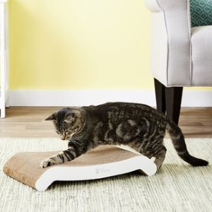 PetFusion Flip Pad Cat Scratcher Toy with Catnip - Best Cat Toys for Indoor Cats: Sturdy Cardboard