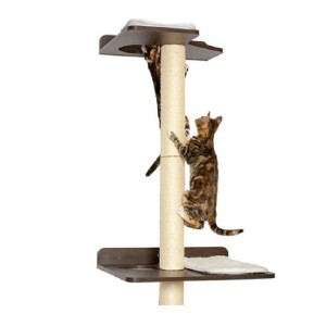 PetFusion 76.8-in Wall Mounted Cat Tree - Best Cat Tree for Small Spaces: Robust Pillar Cat Tree