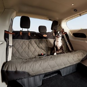 PetSafe Happy Ride Quilted Bench Car Seat Cover - Best Dog Car Back Seat Covers: Washable Back Seat Cover