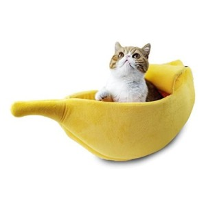 Petgrow Cute Cat Bed House - Best Cat Beds for Kittens: Cozy giant banana