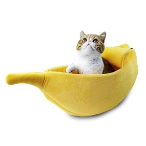 Petgrow Cute Cat Bed House - Best Cat Beds for Large Cats: Adorable banana