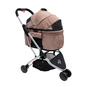 Petique  Rose Newport  - Best Dog Strollers for Running: Two Adjustable Leashes for Optimal Safety