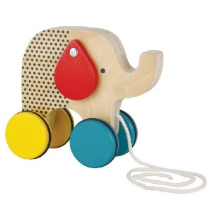 Petit Collage Jumping Jumbo Elephant Wood Pull Toy - Best Wooden Toys for Babies: Sways his wiggly ears