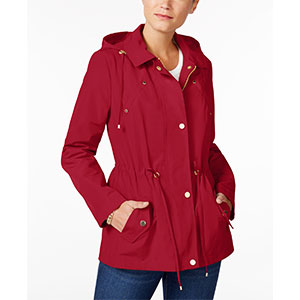 Charter Club Anorak Rain Jacket - Best Raincoats for Petites: Welt Pockets at Chest. Flap Pockets at Hips