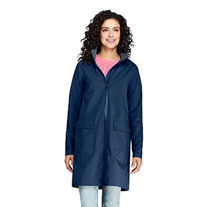 LAND'S END Petite Classic Stretch Raincoat - Best Raincoats for Petites: Classic and Great Features