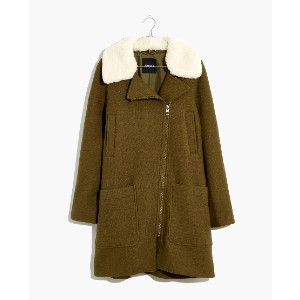 Madewell Eldridge Zip Coat in Insuluxe Fabric - Best Coats for Cold Weather: Four Patch Pockets on the Outside