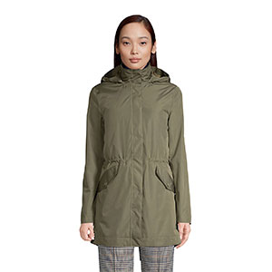 LAND'S END Petite Insulated 3 in 1 Rain Parka - Best Raincoats for Petites: Cinch Waist for Your Cute Looking