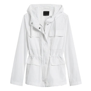 Banana Republic Water-Resistant Field Jacket - Best Raincoats for Petites: Adjustable Waist and Breathable