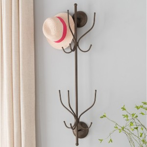 K and B Furniture Co Inc Pewter 12-hook Wall-mounted Hat and Coat Rack - Best Coat Rack Stand: Keeps your floor clear
