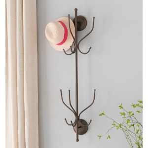 K and B Furniture Co Inc Pewter 12-hook Wall-mounted Hat and Coat Rack - Best Coat Rack for Small Spaces: Best wall-mounted rack