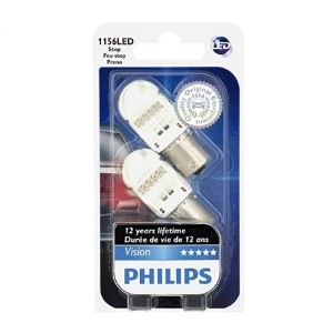 Philips 1156 Intense Red Vision LED Stop/Tail Light - Best LED Tail Lights: Last up to 12 years!