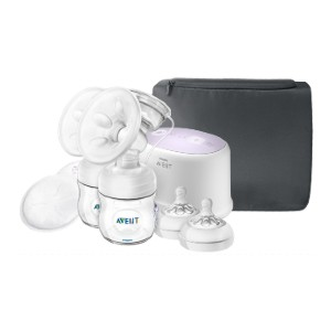 Philips AVENT Double Electric Breast Pump  - Best Breast Pump for Low Supply: Soft, Warm Stimulation Massage Cushion