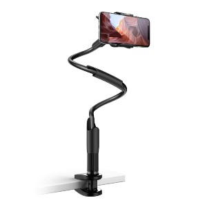 Lamicall Phone Holder Bed Gooseneck Mount - Best Phone Stand for Video Recording: Various Using Occasions