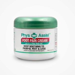 PhysAssist Foot Pain Relieving Cream - Best Foot Creams for Neuropathy: Cream with Botanical Ingredients