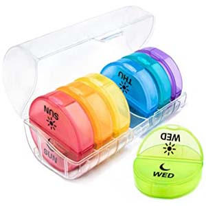 Physician's Choice AM/PM Pill Planner with Case - Best Pill Dispensers for Seniors: Grab individually and go!