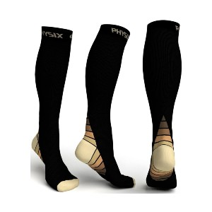 Physix Gear Sport Compression Socks - Best Compression Socks for Varicose Veins: Take Your Game to The Next Level