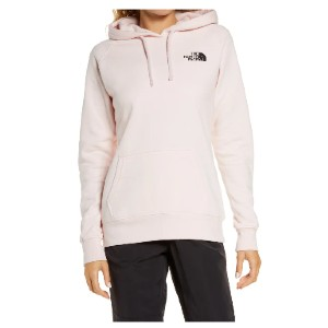 The North Face Pink Ribbon Logo Hoodie - Best Hoodies for Women: Comfortable Midweight Pullover