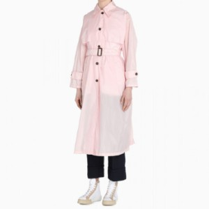 PRADA Pink single-breasted trench coat - Best Trench Coats for Petites: Double Breasted Buttoned Closure