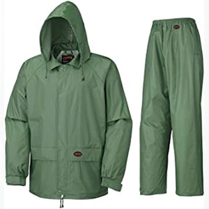 Pioneer Sealed Seams Waterproof Jacket and Pants Combo - Best Raincoats for Work: The two large pockets raincoat jacket