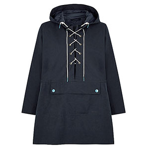 Barbour Pippa navy brushed-twill jacket - Best Raincoats for Petites: Dolman Sleeve for Charming Look