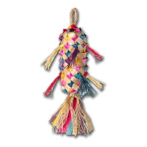 Planet Pleasures Spiked Pinata Natural Bird Toy - Best Bird Toys for Parakeets: Chew to the hearts' content