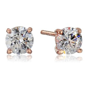 Amazon Collection Round-Cut Stud Earrings  - Best Jewelry for Sensitive Ears: Wide range of sizes
