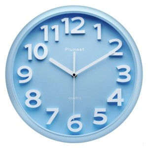 Plumeet Silent Non-Ticking Quartz Wall Clocks - Best Wall Clock for Living Room: Eye-Catching Numeric