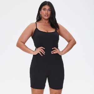 Forever 21  Plus Size Cami Romper  - Best Romper for Plus Size: Accentuate your curves
