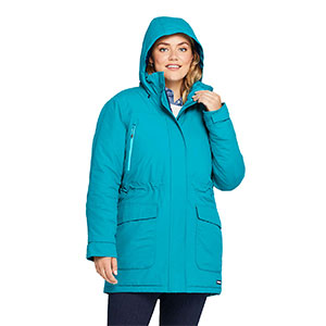 LAND'S END Plus Size Petite Squall Winter Parka - Best Raincoats for Petites: Durable, Waterproof, and Windproof