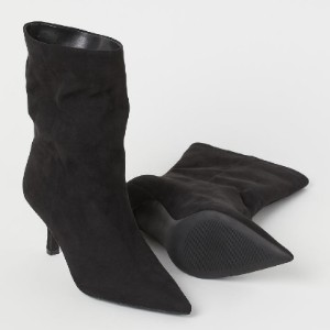 H&M Pointed Boots - Best Boots for Women: Insoles in Faux Leather