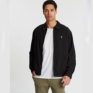 Polo Ralph Lauren Bi-Swing Windbreaker Jacket - Best Jacket for Wind: Classic man design windbreaker jacket