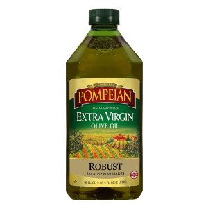 Pompeian Robust Extra Virgin Olive Oil - Best Olive Oil for Salad Dressing: Farmer-Crafted Ingredients