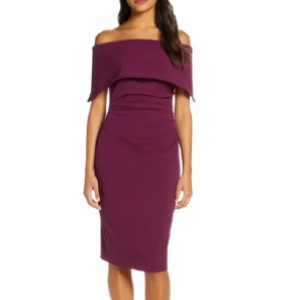 VINCE CAMUTO Popover Cocktail Dress  - Best Dress for Petites: Alluring yet sophisticated