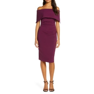 VINCE CAMUTO Popover Cocktail Dress - Best Off The Shoulder Dresses: Classy and splendidly sexy