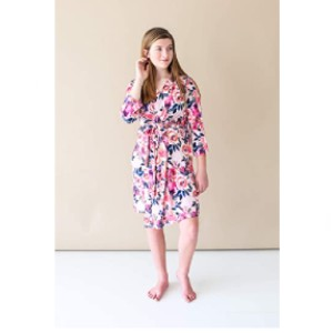 Posh Peanut Store Labor Delivery Soft Nursing Lounge Wear - Best Robes for New Mom: Feminine Floral Robe