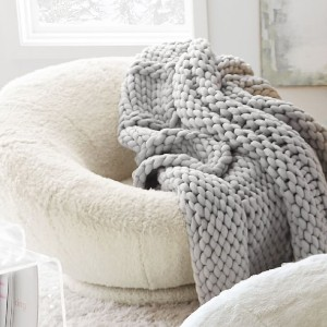 Potterybarn Super Chunky Knit Throw - Best Blanket for Couch: Big-Texture Knitted Blanket