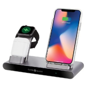 Case-mate Power Pad Pro 3 in 1 - Best Wireless Charger for Multiple Devices: Place and Go Wireless Charging