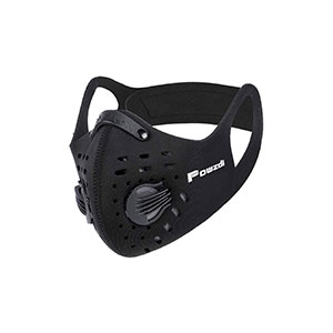 Powzdi Dustproof Sports Mask Anti-Pollution Mask with Activated Carbon Filter 2 Valves Dustproof Face Mask Sheet Mask for Motorcycling Woodworking Cycling Running Bicycle Outdoor Activities - Best Masks for Working Out: Premium Material and Comfortable to Use.