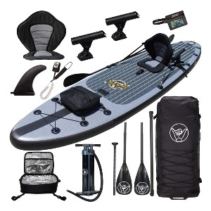 South Bay Board Co. Premium Inflatable Stand Up Paddle Board - Best Paddleboard for Fishing: Bring extra rider along