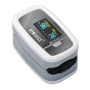 Homedics Premium Pulse Oximeter - Best Pulse Oximeter for Home Use: One-Button Operation