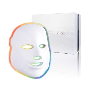 Pretty LED Face Mask Light Therapy - Best Light Therapy Mask for Dark Spots: Multiple Light Color with Degrees of Intensity