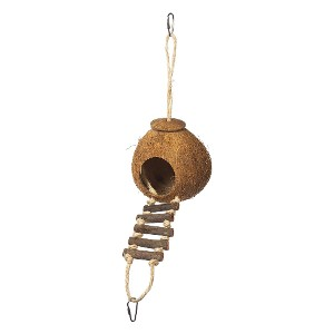 Prevue Hendryx 62801 Naturals Coco Hideaway - Best Bird Toys for Budgies: Great for a little privacy