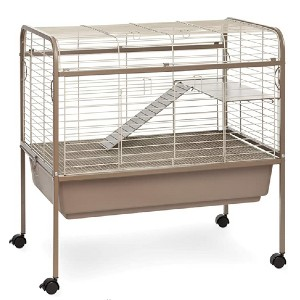 Prevue Hendryx Cocoa & Cream Small Animal Cage Stand  - Best Cage for Guinea Pigs: Relocating easily