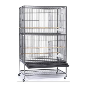 Prevue Hendryx Wrought Iron Flight Cage - Best Bird Cage for Canary: Clean-up is a breeze!