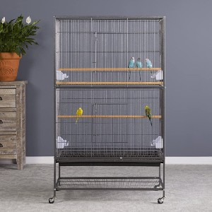Prevue Hendryx Pet Products Wrought Iron Flight Cage  - Best Bird Cage for Finches: Lots of space for exercise